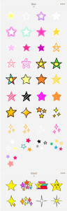 aillis スタンプカタログ 星