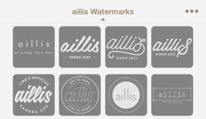 aillis スタンプカタログ ロゴ