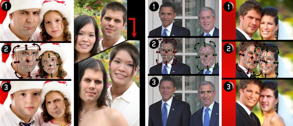【電車内閲覧注意】フェイス・スワップ(顔交換)の画像がいずれも想像を超える面白さ【20枚】_アプリスクリーンショット