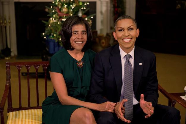 【電車内閲覧注意】フェイス・スワップ(顔交換)の画像がいずれも想像を超える面白さ【20枚】_オバマ、婦人