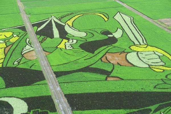 ゆうしゃ_【画像あり】埼玉県行田市のドラクエの田んぼアートが想像を超えるクオリティで美しい