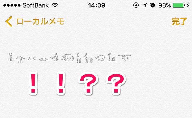 アイキャッチ_iPhoneで動物やエジプトの神々など超特殊文字を入力する方法【象形文字】