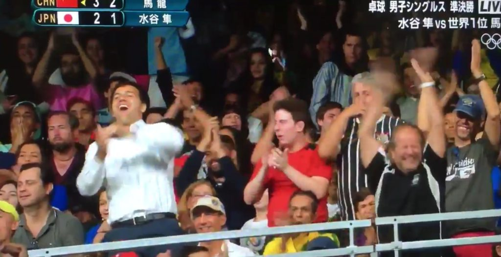 会場の様子_【リオ五輪】卓球男子で銅メダルを取った水谷隼選手の試合がもはや現実飛び越えてマンガ