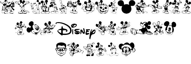 1_ディズニーキャラのイラストが詰まった厳選ディズニー文字フォント10選