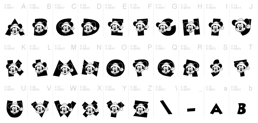 3_ディズニーキャラのイラストが詰まった厳選ディズニー文字フォント10選
