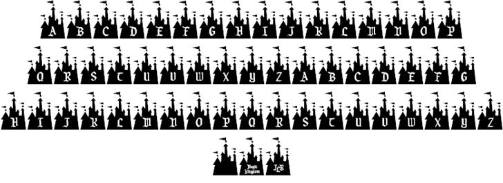シンデレラ城_ディズニーキャラのイラストが詰まった厳選ディズニー文字フォント10選
