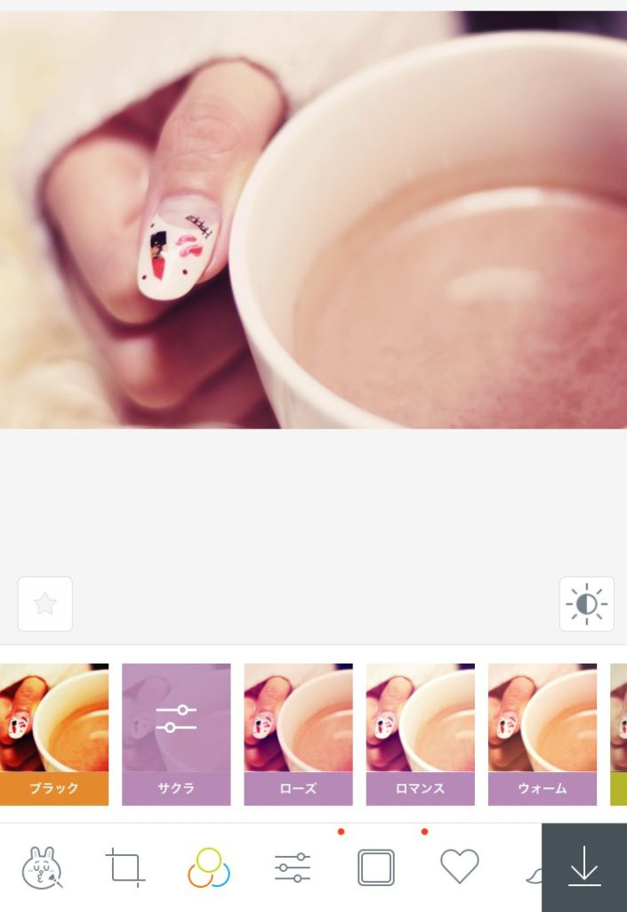 LineCameraサクラ_ピンクっぽいフィルターをかけれるiPhone向け画像編集アプリ6選とその使い方