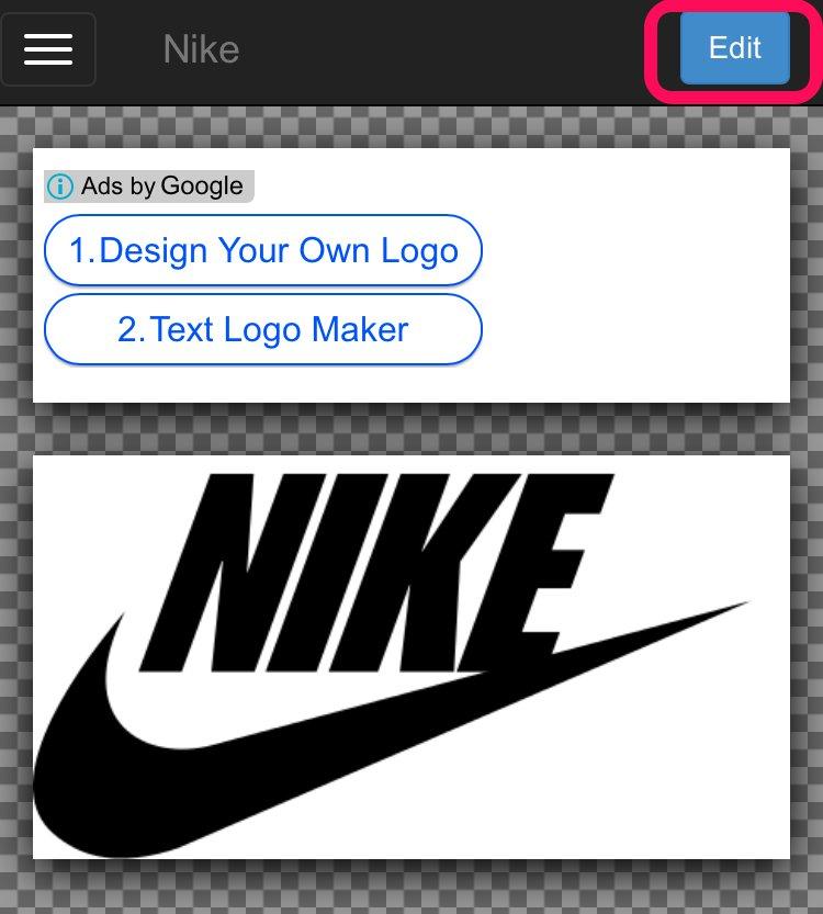 Editボタン_企業ロゴの文字部分を自由に変更して画像保存ができるサイト