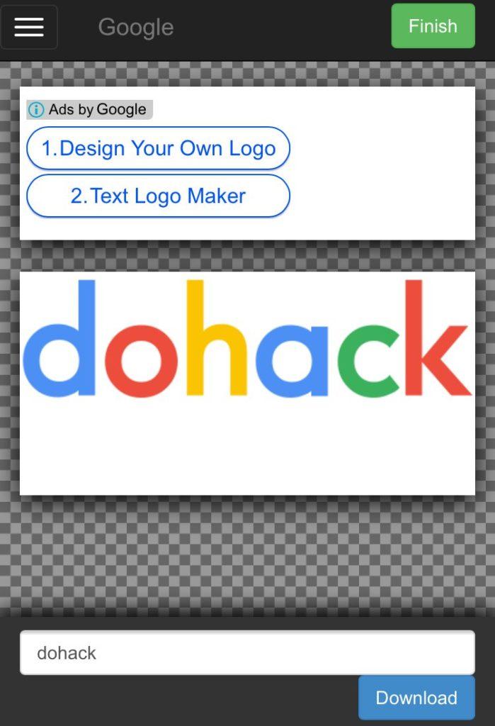 Google風_企業ロゴの文字部分を自由に変更して画像保存ができるサイト