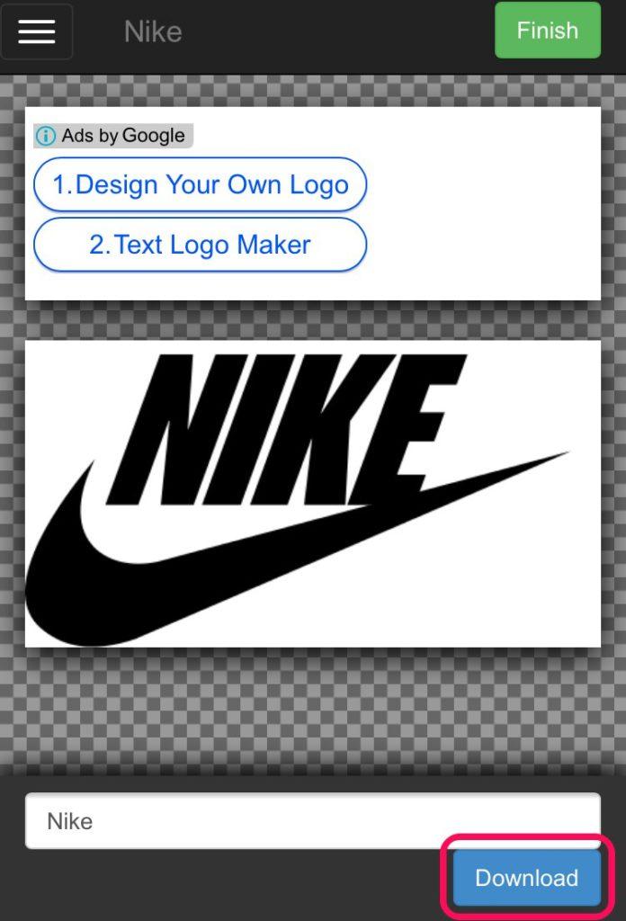 ダウンロード_企業ロゴの文字部分を自由に変更して画像保存ができるサイト