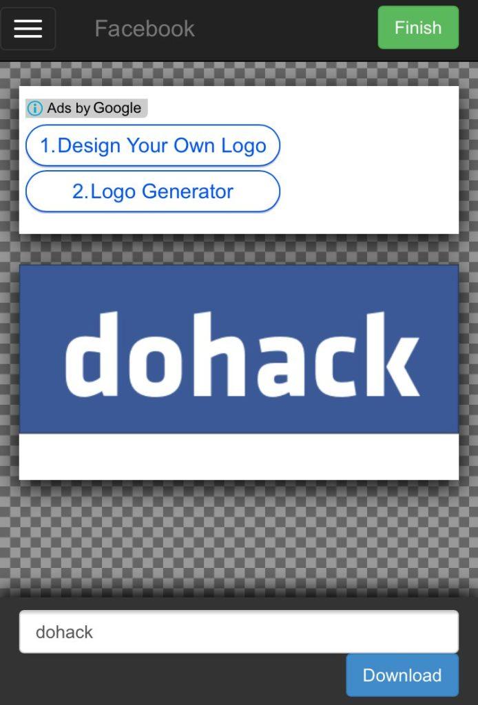 Facebook風_企業ロゴの文字部分を自由に変更して画像保存ができるサイト