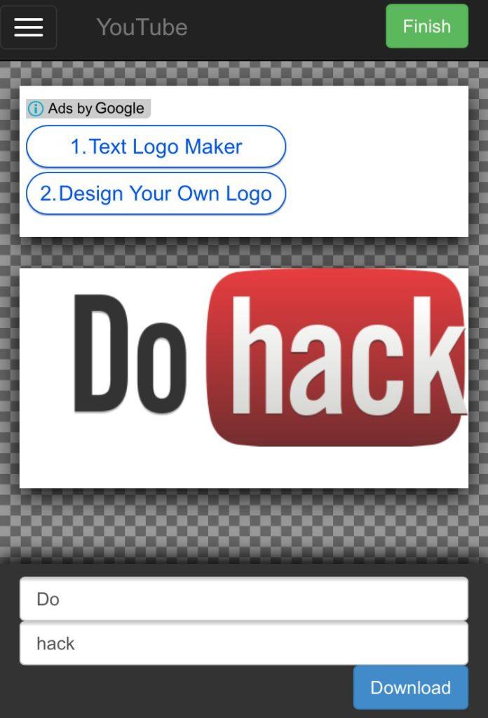 Youtube風_企業ロゴの文字部分を自由に変更して画像保存ができるサイト